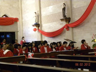 Chinese choir for ordination ceremony