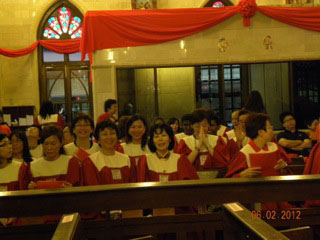 st Peter's Choir for ordination ceremony