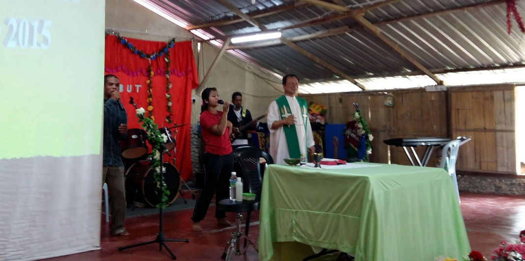 Worship session at Kg Sekam