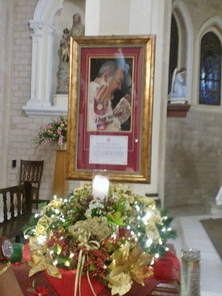 Padre Pio relic installed