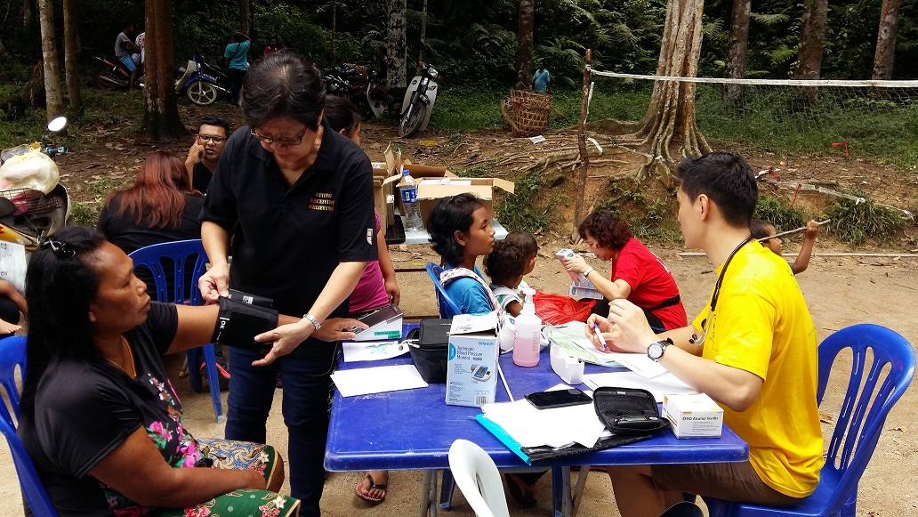 Medical camp at Kg Sekam Village 1