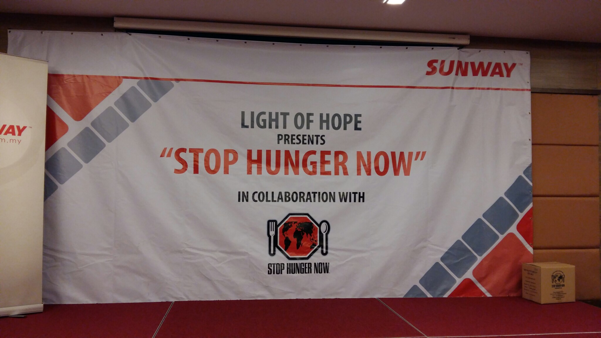 Stop Hunger Now Campaign sponsored by Sunway Group