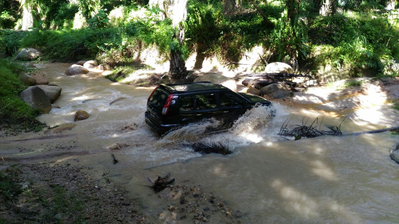 Dangerous journey in flood waters