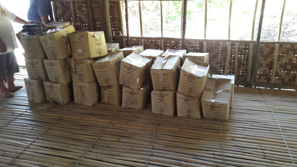 Fortified rice delivered to kampung