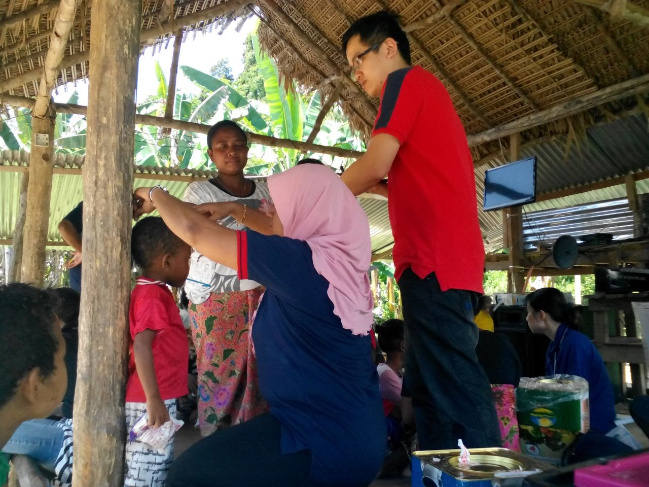 Medical check-up for Gerik villagers